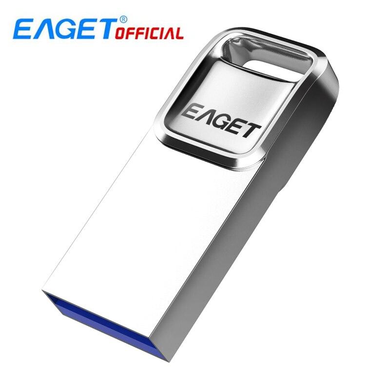 EAGET U1 USB 2.0 16GB /32GB /64GB USB Flash Drive Metal Waterproof Pendrive Memory Storage Stick Minni U Disk For Computer