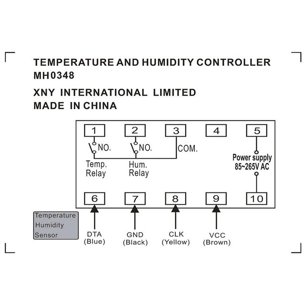 Mh0348 digital inteligente controlador de temperatura e