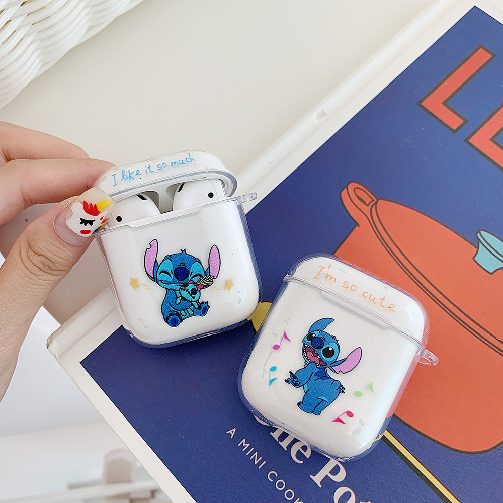 For Airpods Case Blue Bluetooth Wireless Earphone Protective Cover Stitch Doraemon Clear Soft For Apple Airpods Charging Bags