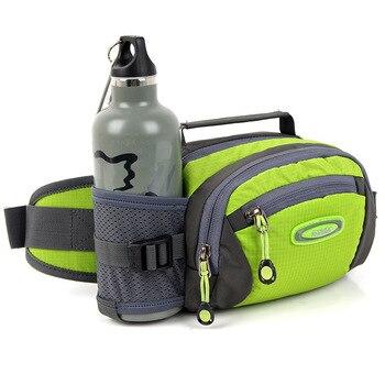 2L Waterproof Nylon Running Bag Sport Trail Cycling Climbing Waist Bag Men Women Gym Fitness Water Bottle Waist Belt Fanny Pack