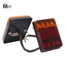 1pcs Car 12V 8LED Trailer Tail Light Left and Right Taillight Truck Car Van Lamp IP65 waterproof Trailer taillight(China)