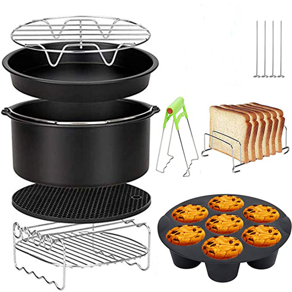 8pcs/set 7 Inch / 8 Inch Air Fryer Accessories for Gowise Phillips Cozyna and Secura Fit all Airfryer 3.7 4.2 5.3 5.8QT