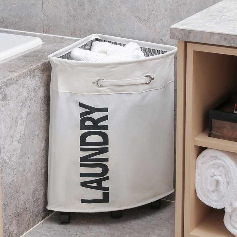 汚れた服ランドリーバスケット折りたたみ収納バスケットホイールオフィス防水オックスフォード浴室ランドリー洗濯物用かご