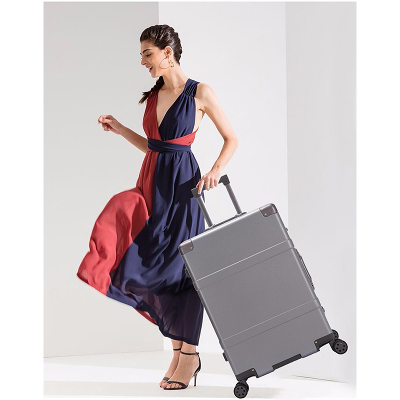 Trolley Case Hoge Capaciteit Aluminium Frame Creatieve Rolling Bagage Spinner Koffer Wielen Kleurrijke Carry op Trolley Reistas