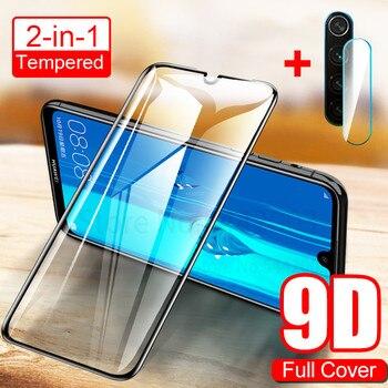Перейти на Алиэкспресс и купить ДЛЯ VIVO IQOO Z1X S6 X50 Y30 V19 Pro 2020 2 в 1 Прозрачная HD 9D задняя камера защитная пленка для экрана из закаленного стекла