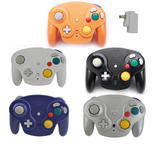 Classic 2.4G Wireless Controller Gamepad for Wii U Gamecube NGC GC with Receiver Adapter Joystick Joy Pad