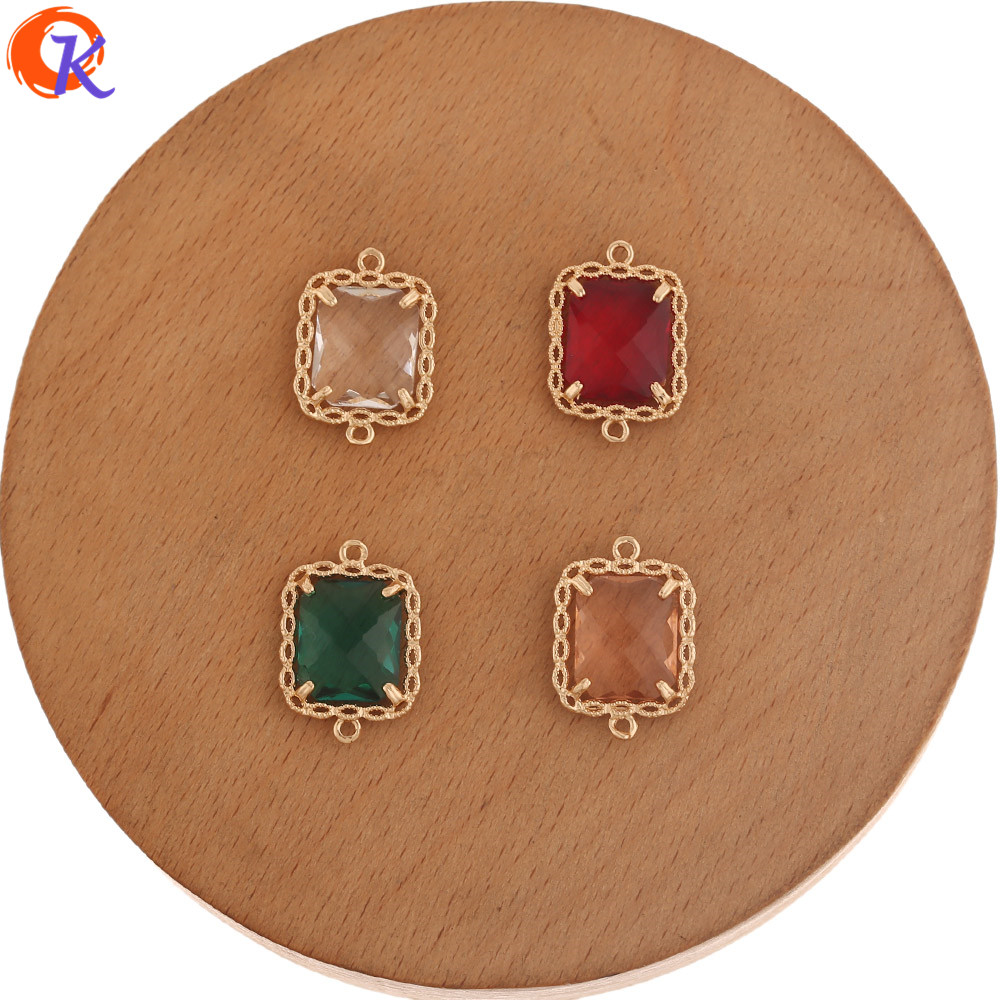 Cordial Design 50Pcs 14*20MM Charms Jewelry/Jewelry Accessories/DIY Making/Hand Made/Earring Findings/Crystal Earring Connectors