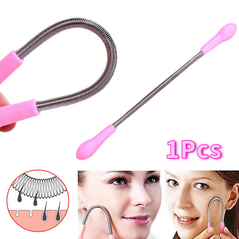 1 Pcs Face Facial Hair Spring Remover Stick Remova Epilator Epistick Facial Hair Remover Spring Threading Tool Removal Epicare