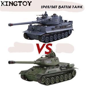 Rc Shooting Tank Remote Control Tiger Tank Rc Army Battle Model Tank Millitary Rc Tank Kit Toy Boy 11070