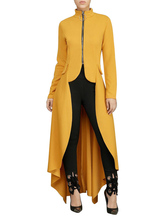цена Women's Coats Autumn Winter 2019 Trench Coat Fashion Slim Poncho With Pockets Long Sleeved Zipper Casual Designer British Style онлайн в 2017 году