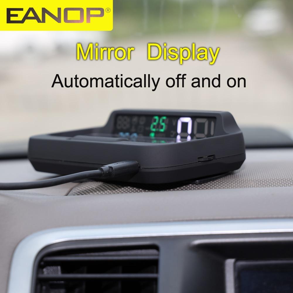 Проектор EANOP M40PLUS OBDII HUD TPMS с дисплеем, проектор скорости OBD2 Winshield, проектор KMH, миль/мин, навигация по расходу масла