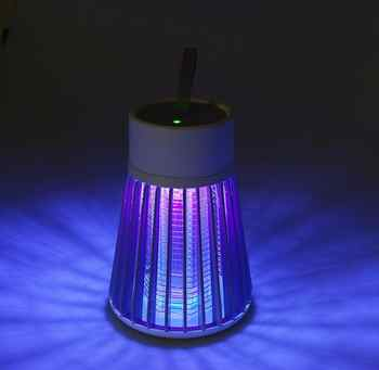 Portable 360° Photocatalytic LED Mosquito Repeller Nanowave Trap Lamp 2200mAh USB Rechargeable Fly Bug Insect Zapper Killer