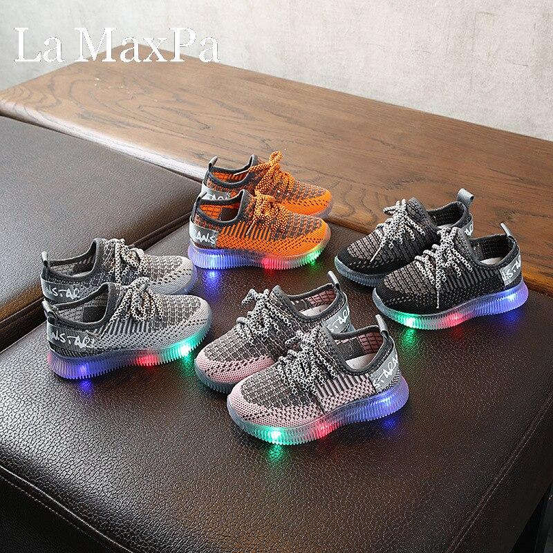 Schoenen met-baskets lumineuses pour enfants | Baskets à la mode 2020, baskets pour garçons avec semelles brillantes