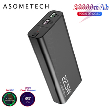 20000mAh 5A Super Fast Charge QC3.0 Power Bank USB C PD3.0 Flash Fast Charger External Battery 2USB Powerbank For iPhone Xiaomi 20000mah solar power bank dual usb powerbank waterproof external battery portable solar battery charger charging with led light