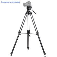KINGJOY VT-2500 Professional Mg-Al Alloy Video Photo Tripod Kit Panorama Pan Fluid Ball Head for DSLR Camera Video Recorder DV