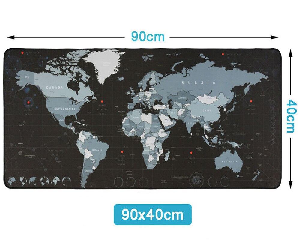 Горячая Экстра большой коврик для мыши карта старого мира игровой коврик для мыши Противоскользящий натуральный резиновый игровой коврик для мыши с запирающимся краем - Цвет: new 900 x 300 mm