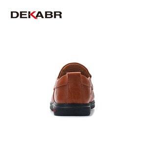 Image 3 - DEKABRผู้ชายรองเท้าหนังแท้รองเท้าสบายๆสบายๆรองเท้าส้นเตี้ยรองเท้าผู้ชายลื่นขี้เกียจรองเท้าZapatos Hombre