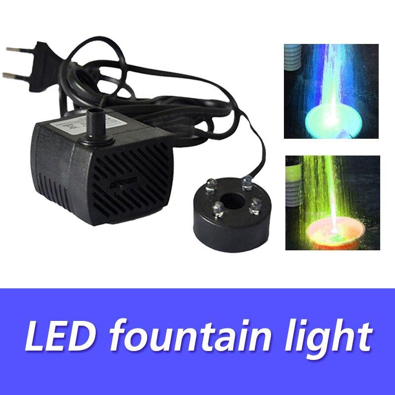 Colorful LED Pool Lights Electric Submersible Aquarium Fountain Water Pump Fashion Decorative Lamp Fountain Pool Lights