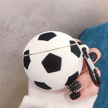 For AirPod 2 Case 3D Sport Soccer Football Cartoon Soft Silicone Earphone Cases For Apple Airpods Pro Case Cute Cover Funda MNL1 for airpods pro case 3d little bear cartoon soft silicone wireless earphone cases for apple airpod 3 case cute cover funda