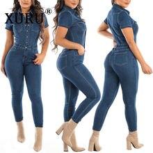 Хит продаж женский джинсовый комбинезон xulu в европейском и