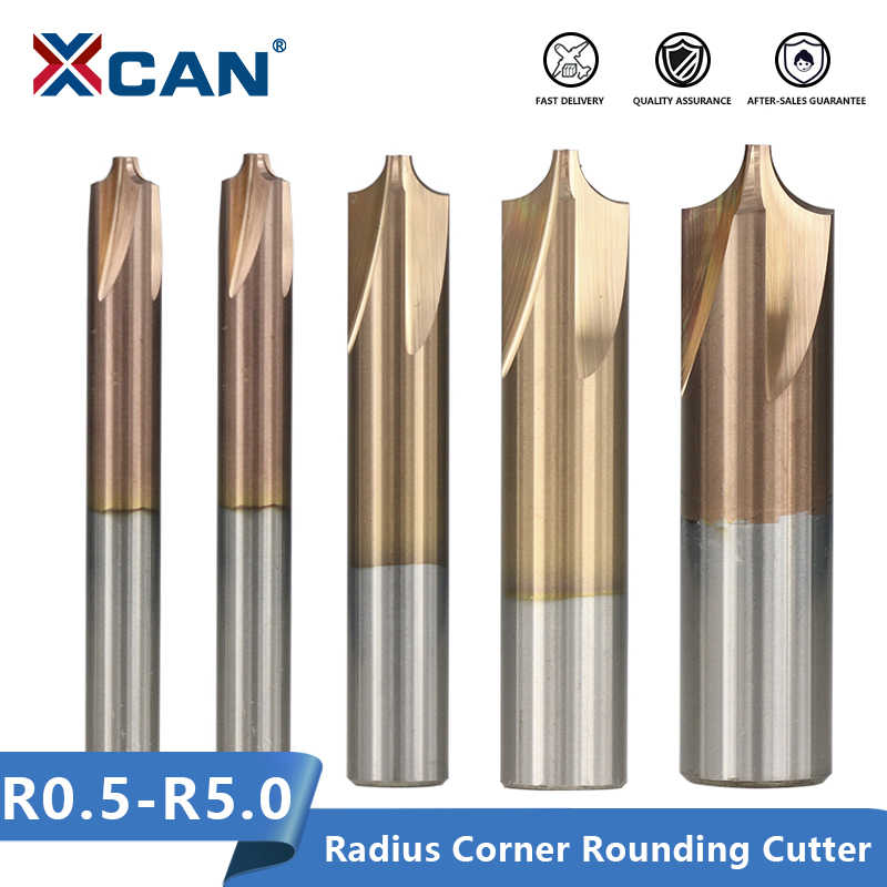 Solid Carbide Corner Rounding Cutter Endmill R6 Dia 14mm 4Teeth CornerRound Mill