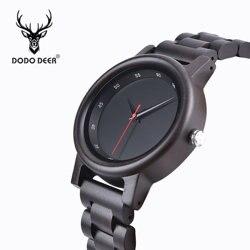 DODO DEER relogio masculino całkowicie bambusowy drewniany zegarek męski zegarek Top marka luksusowy wysokiej jakości męski wysokiej jakości zegarek na rękę A02 Zegarki kwarcowe    -