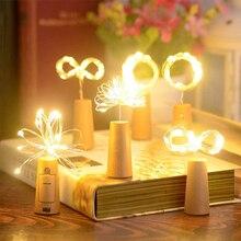 DIY Led Fairy Lights String Battery Powered String Lamp Garland Wine Bottle Lights Cork Party Wedding Decor 1M 10led 2M 20led