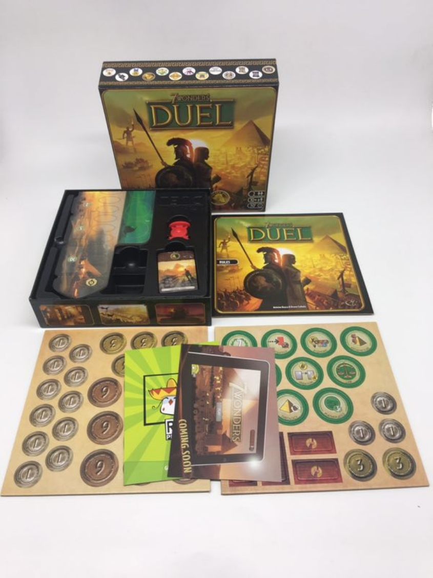 2019 New card game Duel Game English version 7 wonders Board game party family board game kid toys(China)