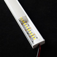 12VDC 50cm 20inch LED cabinet bar light,2835 60 120/240 led per meter flat U profile led hard strip,2W/6W/9W diode invisible