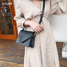 Women's 2020 Bags New Crossbody Bag Small Square Bag PU Leather Retro Crocodile Pattern Female Crossbody Diagonal Bag irregular pattern pu crossbody bag