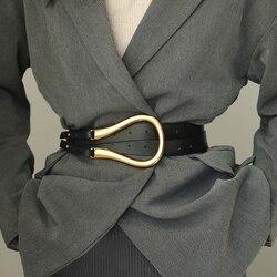 Mode Vrouwen Riem 100% Top Lederen Luxe Merk 2020 Nieuwe Ster Van Dezelfde Paragraaf Riem Casual Stijl gold-Tone Legering Gesp