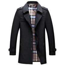 Paragraph Lang Legendary 2019 new Men Winter Coat men Trench Overcoat standard conventional turn-down collar coat