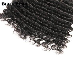 Image 5 - Czarne perły zestawy z głębokimi falami z zamknięciem Remy malezyjskie włosy 30 Cal zestawy z zamknięciem 3 wiązki z zamknięciem ludzkie włosy