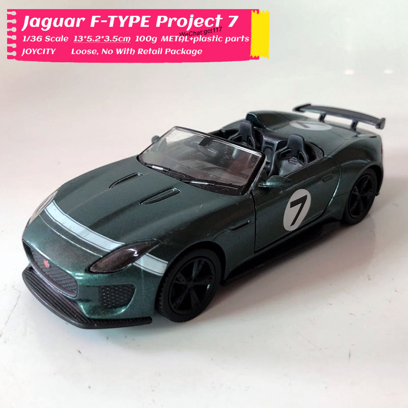 JOYCITY 1/36 Scale Classic JAGUAR F-TYPE Project 7 Diecast Metal Pull Back Car Model Toy For Collection,Gift,Kids