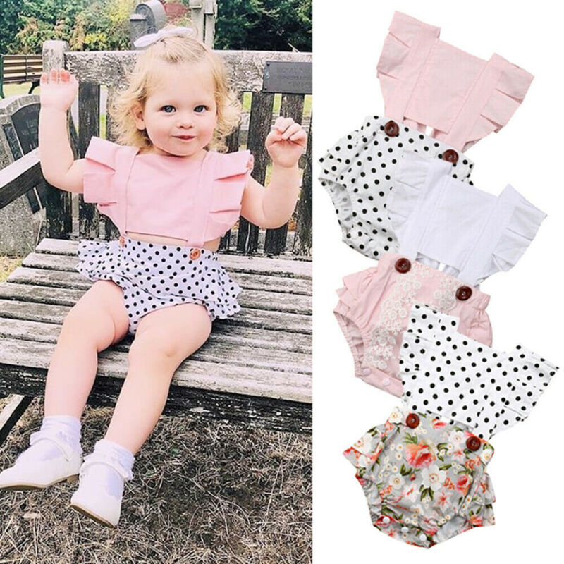 Pudcoco 0-24M Toddler Infant Baby Girl Clothes Sleeveless Bodysuit Jumpsuit Outfits