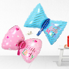 цена на Baby birthday one hundred days decoration balloon butterfly bow aluminum film aluminum foil balloons