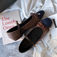 SWYIVY נשים שטוח נעלי גבירותיי בלט מרי Janes מקרית נשים אביב אחת נעליים להחליק על נעלי נשים דירות רדוד לופרס 40