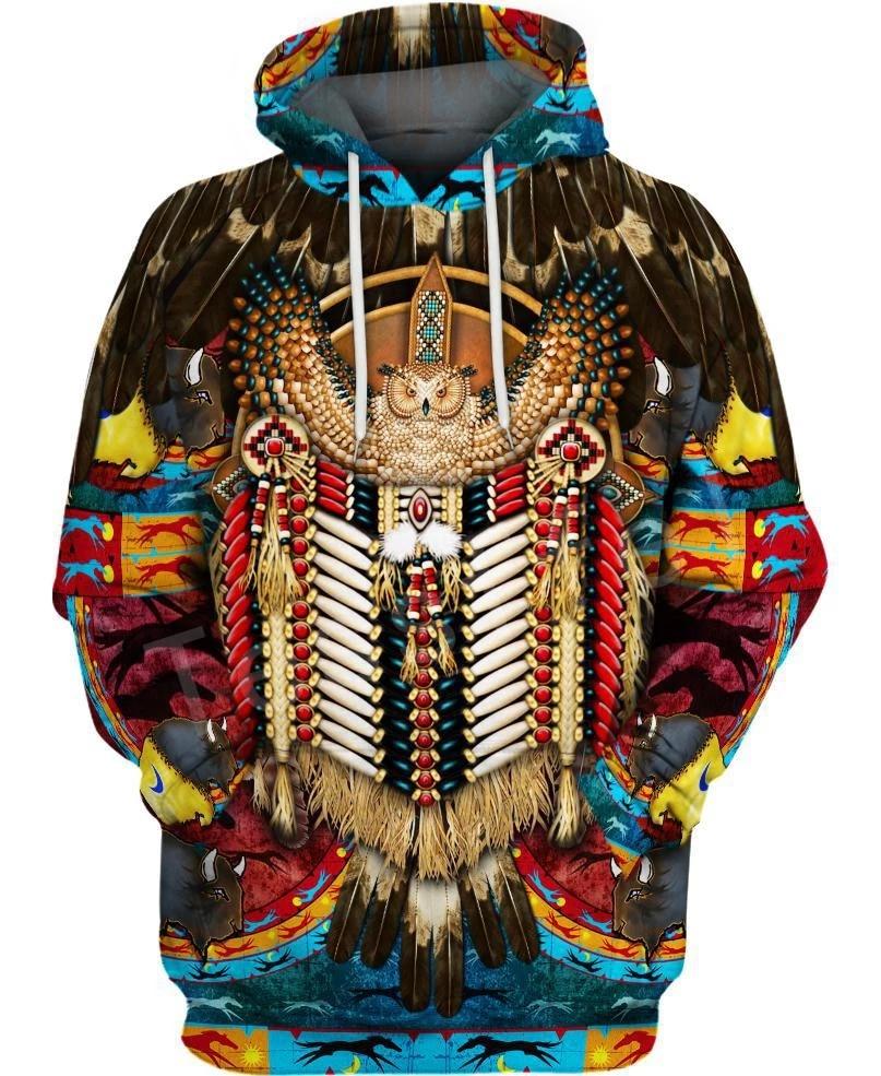 Tessffel Indian Native Harajuku Casual Colorful Tracksuit New Fashion 3Dfull Print Hoodie/Sweatshirt/Jacket/Men Women S17