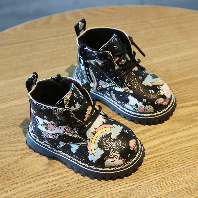 Cartoon Unicorn Leather Boots 3