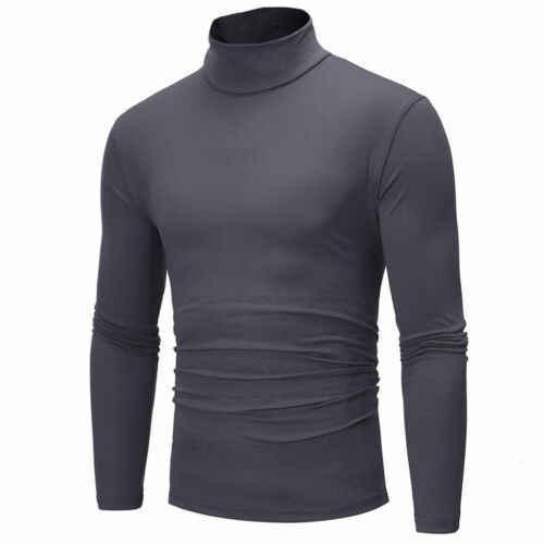 Moda kış erkek ince sıcak örme yüksek boyun kazak Jumper kazak üst balıkçı yaka katı yeni artı boyutu