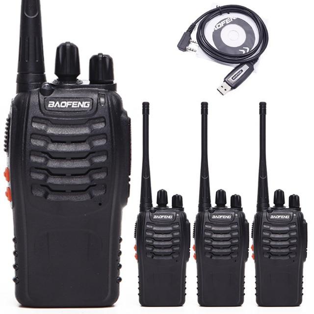 Baofeng Walkie Talkie BF 888S UHF, Radio bidireccional, BF888S, Radio de mano, transmisor 888S, transceptor + 4 auriculares