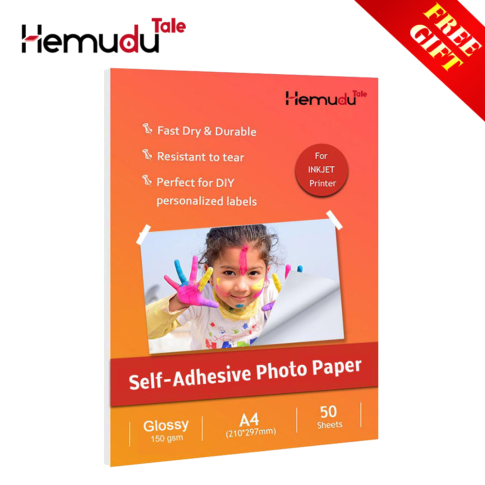 A3/A4 Self-Adhesive Glossy Photo Paper for Lable 150g 50sheets