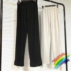 Плиссированные спортивные штаны HOMME PLISSE для мужчин и женщин, 1:1, высокое качество, однотонные, для бега, на завязках, уличная одежда, брюки для...