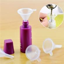 1 шт. маленькие прозрачные пластиковые воронки для косметических жидкостей, флакон для парфюмерного масла, Пустые Контейнеры