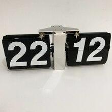 1 шт. 14 дюймов современный дизайн черный белый Авто Флип настольные часы для искусства дома гостиной украшения настольные часы