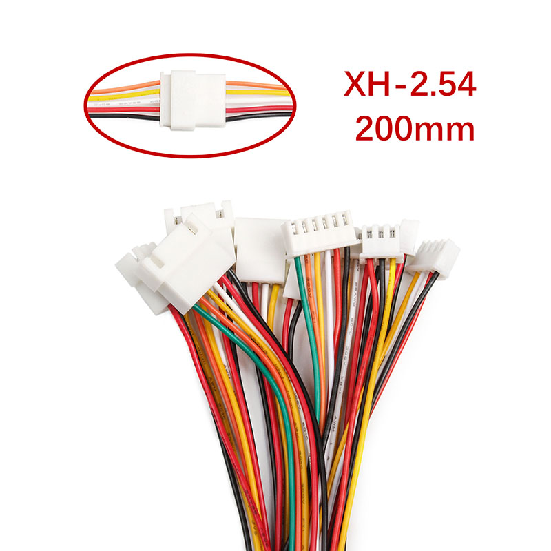 10PCS/set XH2.54 2/3/4/5/6 Pin Pitch <font><b>2.54mm</b></font> <font><b>Male</b></font> & Female Battery Charging Cable Wire Cable <font><b>Connector</b></font> <font><b>XH</b></font> Plug Length 200MM 24AWG image