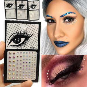 Eyeliner-Sticker Glitter Eyeshadow Makeup Crystals Rhinestone Diamond Sparkly-Face-Eyes