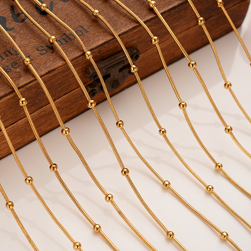 Bangrui Gold-Color Jewelry Necklaces Accessories Chain Women/men Thin for Girl Gift 12pcs/Lot