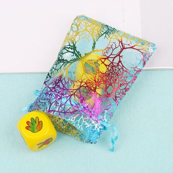 1 Pc Small Colorful Dice Bag Cards Deck Storage Bag Toy Jewelry Mini Drawstring Package Board Game Accessories image