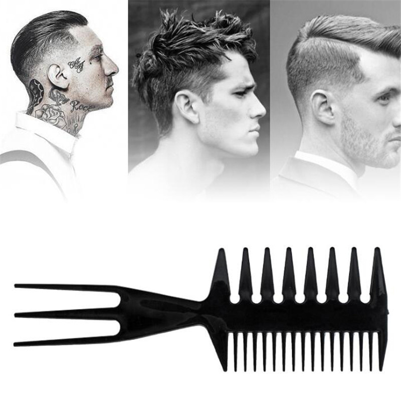 Fish Bone Shape Hair Combs Man Hairstyling Tool Professional Double Side Tooth Combs Barber Hair Dyeing Cutting Coloring Brush